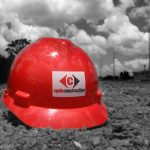 Cycle hard hat on ground